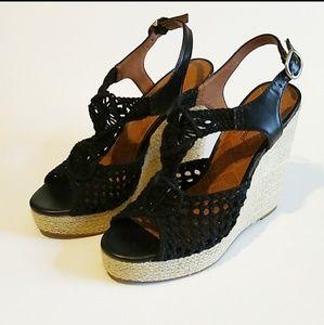 Lucky Brand Crochet Espadrille Sandals. Sz 8 1/2